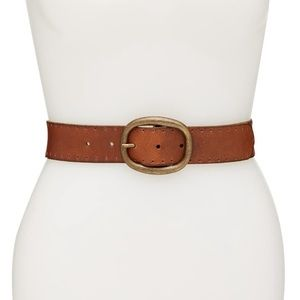 Frye Genuine Leather Perforated brown belt XL